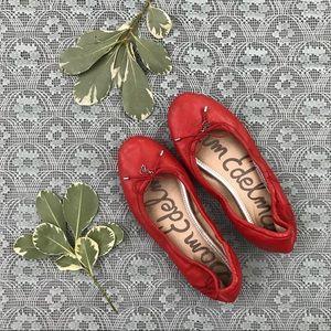 Sam Edelman Red Felicia Flats Shoes